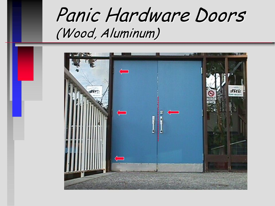 Panic Hardware Doors (Wood, Aluminum)