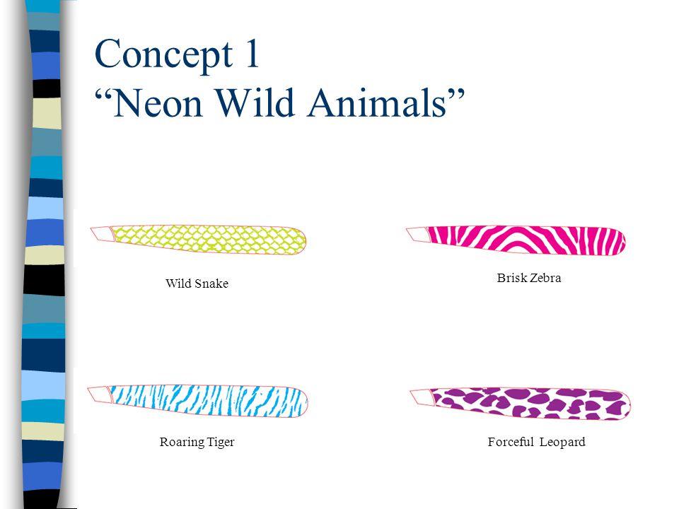 Concept 1 Neon Wild Animals Wild Snake Brisk Zebra Roaring TigerForceful Leopard