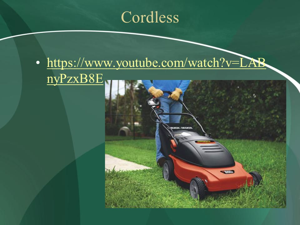 Cordless https://www.youtube.com/watch v=LAB nyPzxB8Ehttps://www.youtube.com/watch v=LAB nyPzxB8E