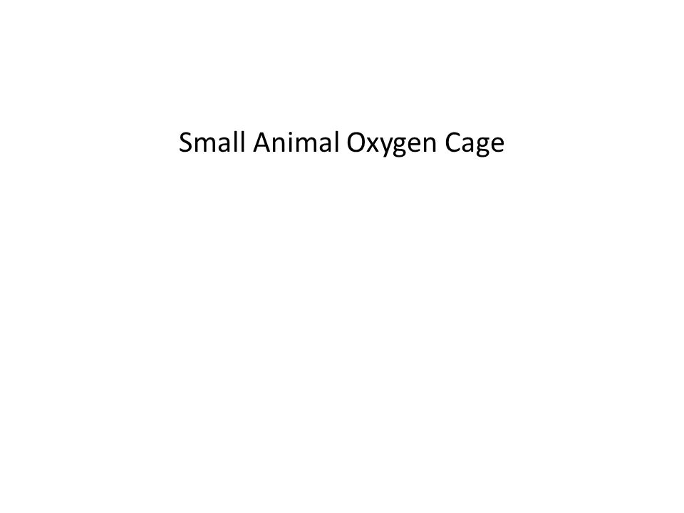 Small Animal Oxygen Cage