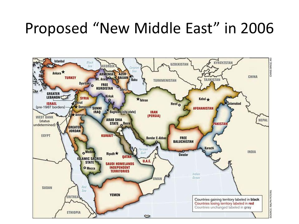 Proposed New Middle East in 2006