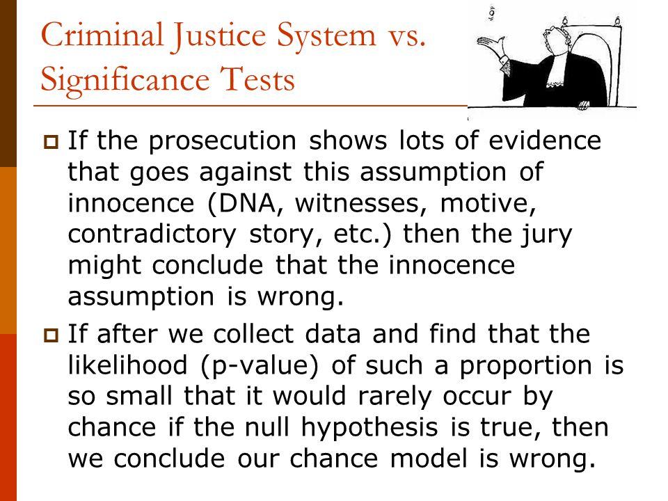 Criminal Justice System vs.