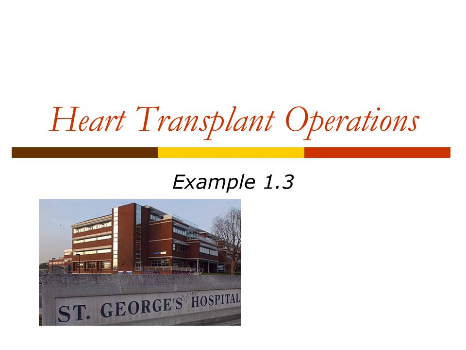 Heart Transplant Operations Example 1.3