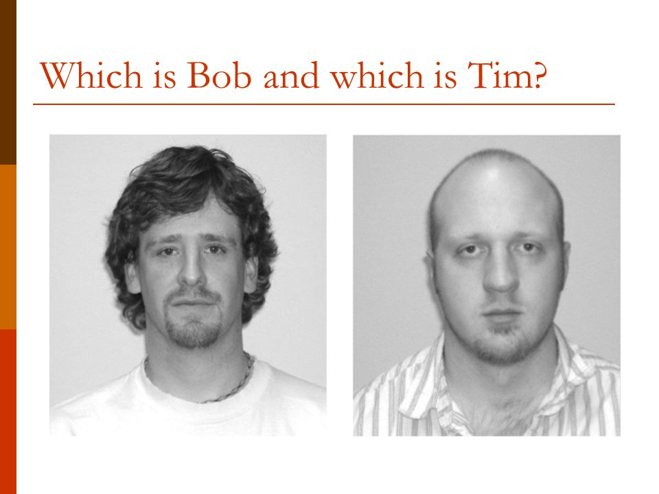 Which is Bob and which is Tim