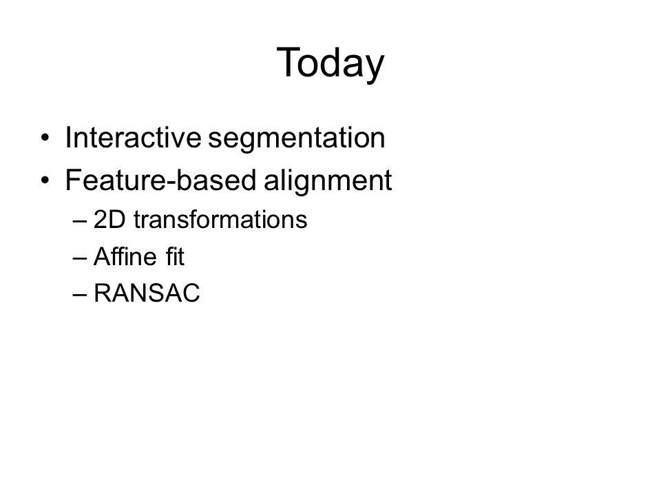 RANSAC for line fitting example Least-squares fit Source: R. Raguram Lana Lazebnik