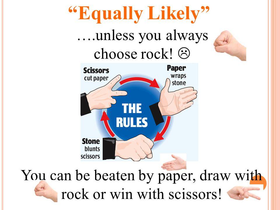 Games of Chance: Rock, Paper, Scissors, Lizard, Spock.