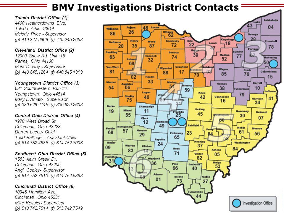 Toledo District Office (1) 4400 Heatherdowns Blvd. Toledo, Ohio 43614 Melody Price - Supervisor (p) 419.327.8989 (f) 419.245.2653 Cleveland District O