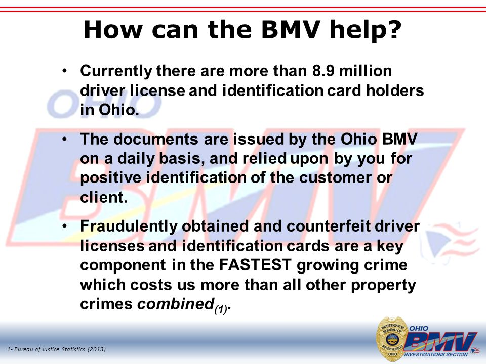 How can the BMV help.