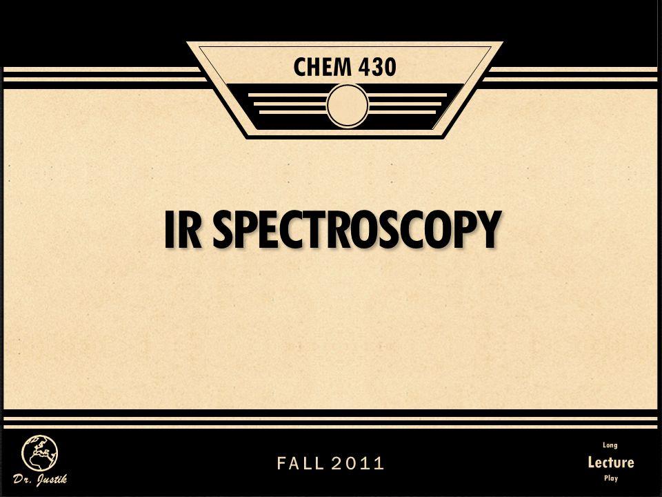 32 IR Spectroscopy I.
