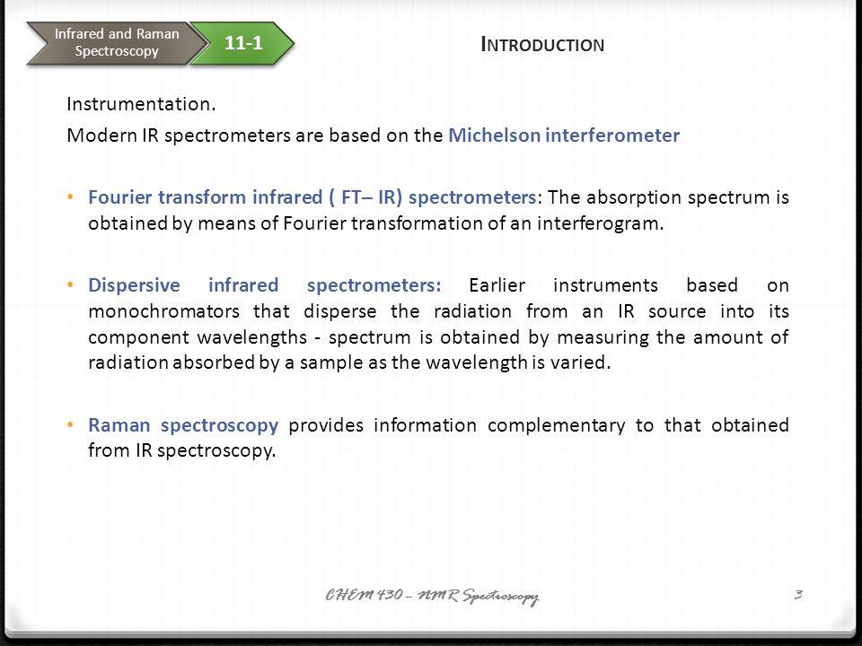 24 IR Spectroscopy I.