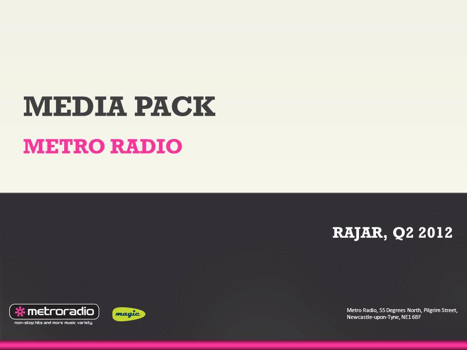 MEDIA PACK METRO RADIO Metro Radio, 55 Degrees North, Pilgrim Street, Newcastle-upon-Tyne, NE1 6BF RAJAR, Q2 2012