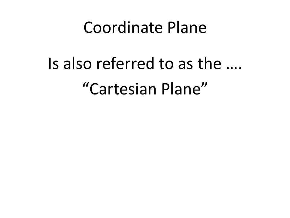 Coordinate Plane 3.8