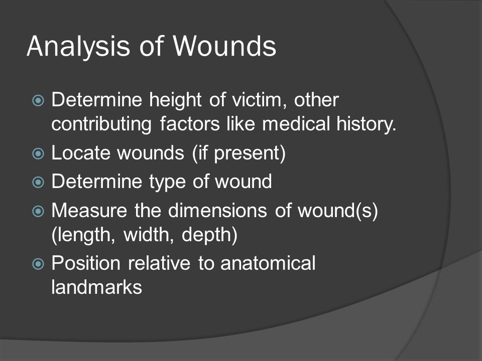 Importance of Bruise Age  Establishing that bruises are of different ages may be of medical importance where there is an allegation of repeated assaults: Child abuse Wife beating  Where pre ‐ existing injuries need to be distinguished from those produced by a recent assault (like a chronic alcoholic who was assaulted)