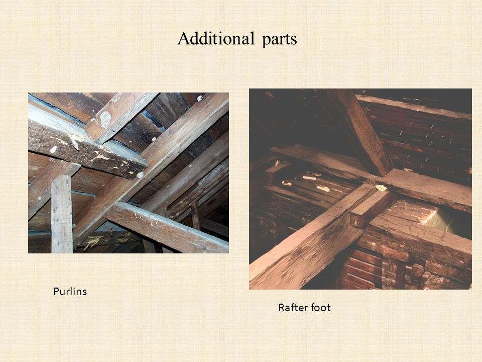 Additional parts Purlins Rafter foot