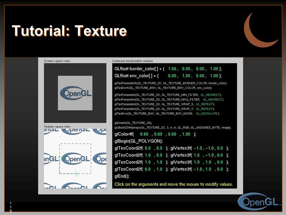 110110110 Tutorial: Texture