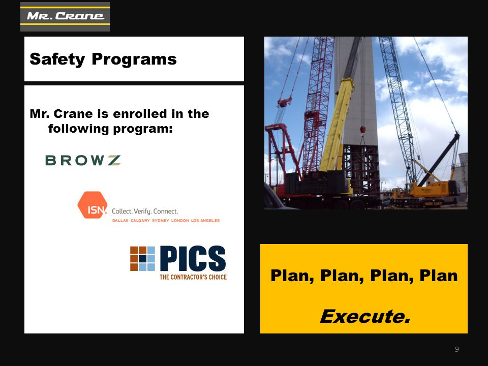 Tower Crane & Hoists  Proper Planning  Foundation & Tie-in Design  Erect, Climb & Dismantle  Certified Operators: Tower Cranes & Man/Material Hoists  OSHA Permitting & Certification The right equipment The right people The right choice 20