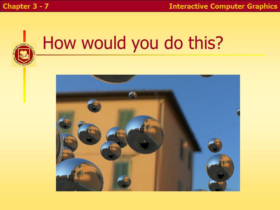 Interactive Computer GraphicsChapter 2 - 38 Depth-buffer images Depth bufferColor buffer