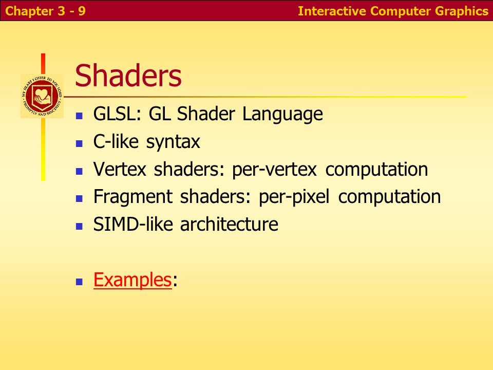 Shading and material types Interactive Computer GraphicsChapter 3 - 60