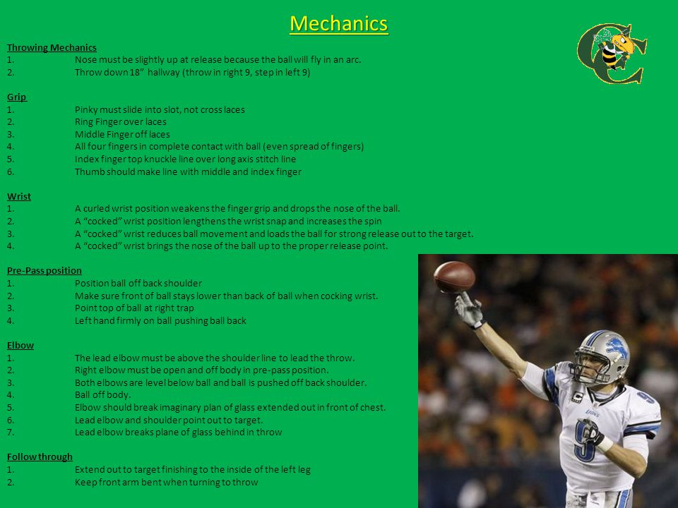"""Mechanics Throwing Mechanics 1.Nose must be slightly up at release because the ball will fly in an arc. 2.Throw down 18"""" hallway (throw in right 9, st"""