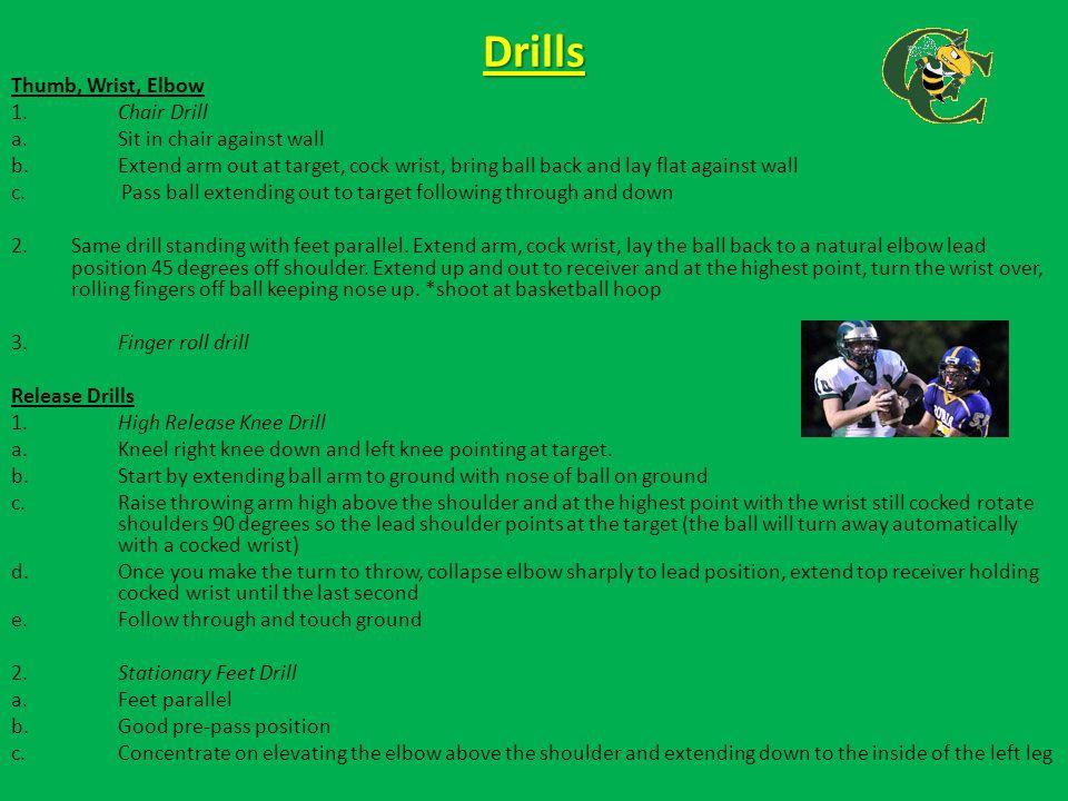 USC quarterbacks run through footwork drills http://www.youtube.com/watch?v=TaY_MO9NeTg Ohio State quarterbacks run through footwork drills http://www.youtube.com/watch?v=nTY1GXkGXCo