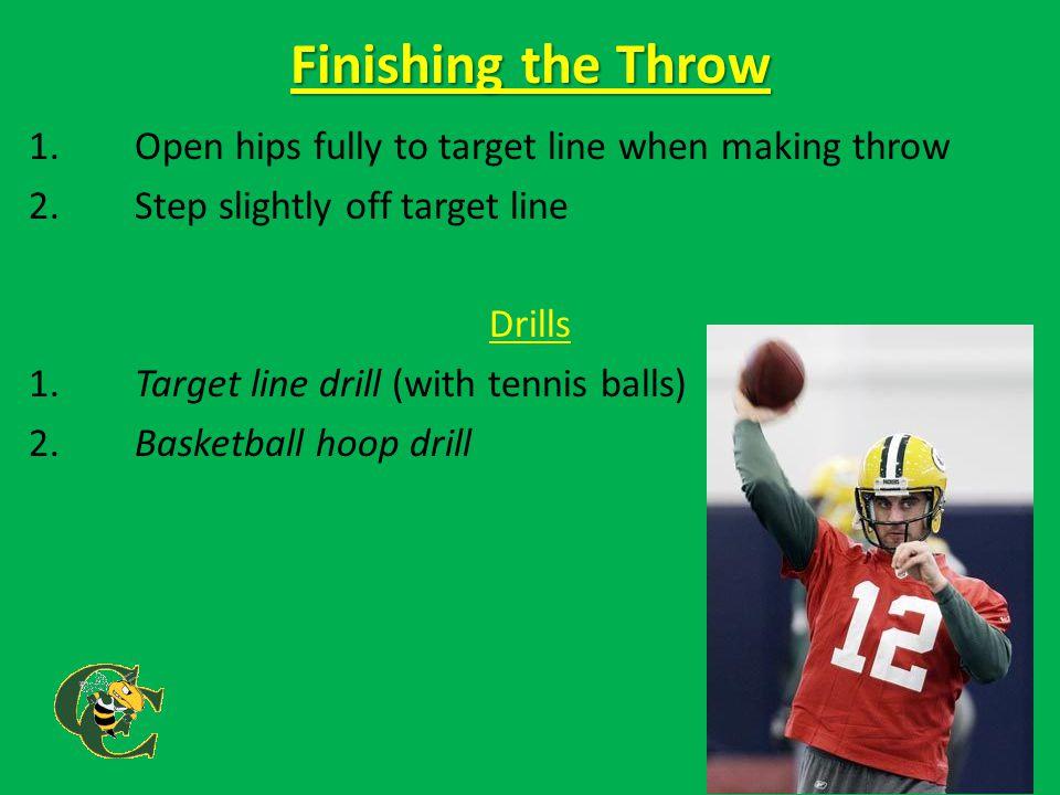 Self-Correct 1.Elbow Drop a.Forearm orbits b.Wrist Curls c.Ball Goes Low 2.