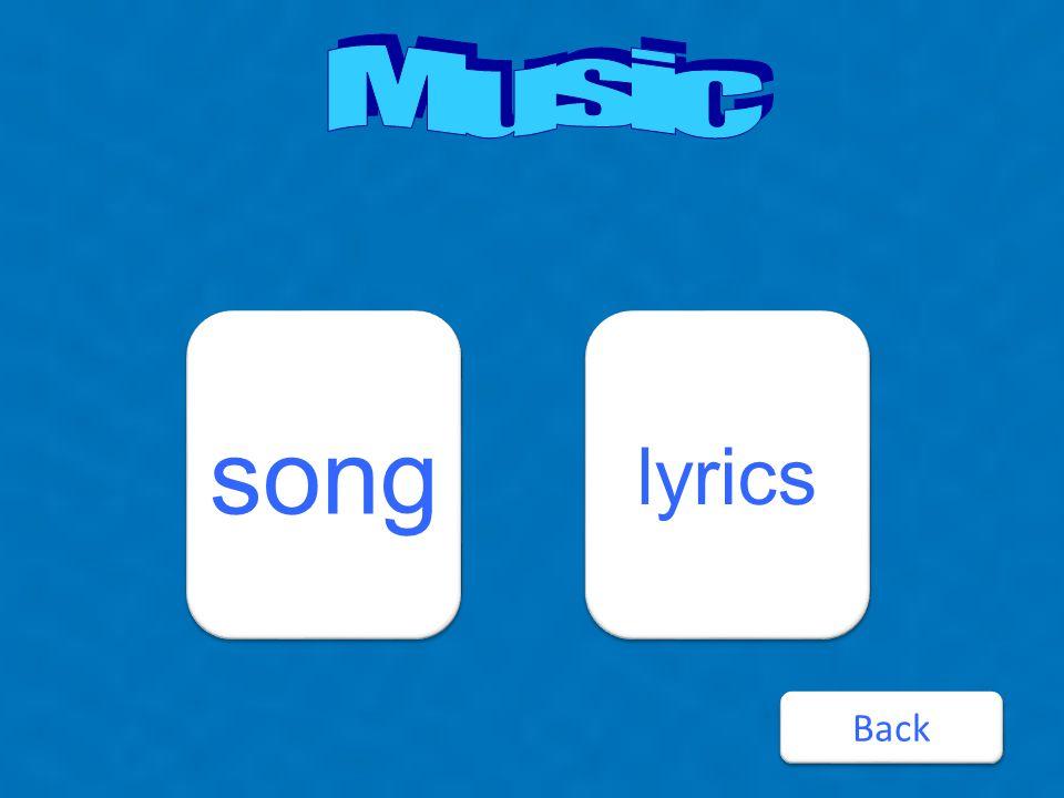 song lyrics Back