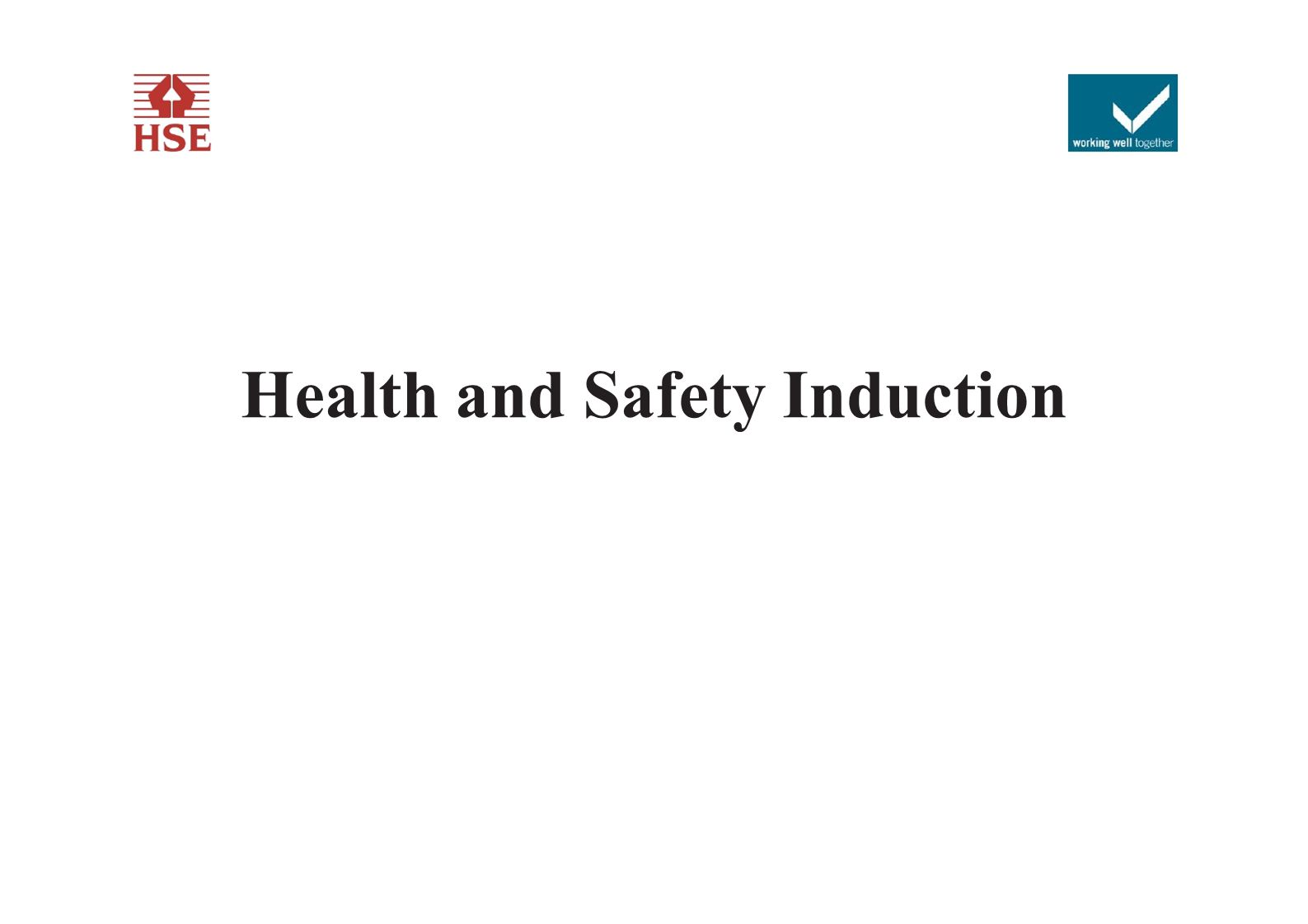 Ensure that inductees are made aware if this site has a particular asbestos risk and what procedures are currently in place to deal with it.