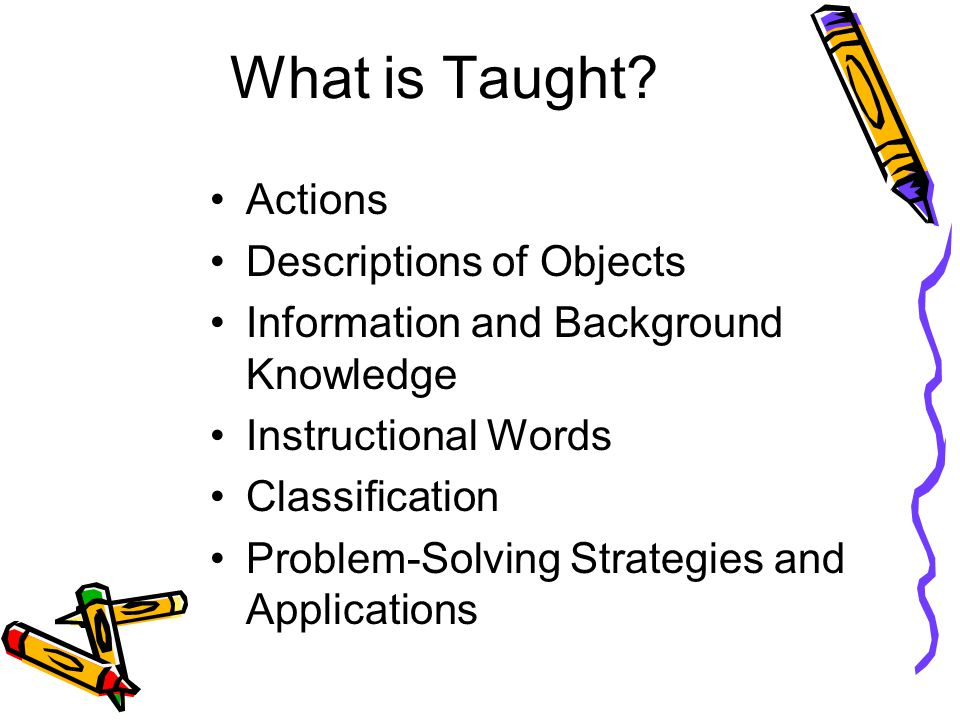 What is Taught.