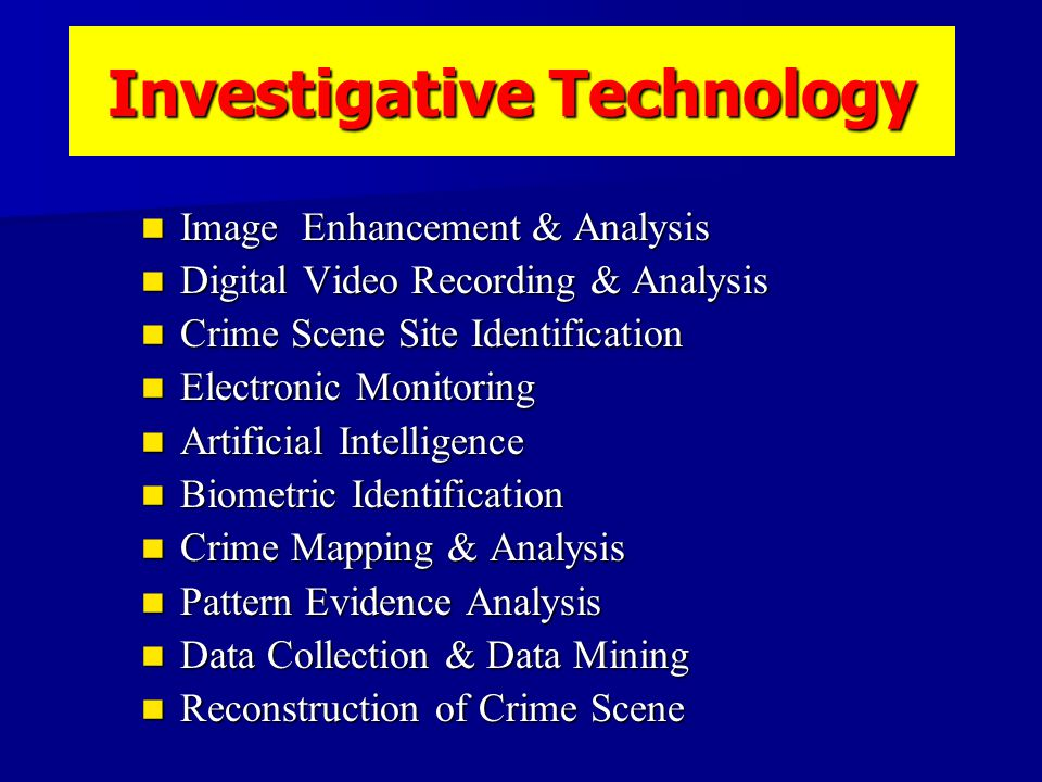Information Theory Criminal Investigation