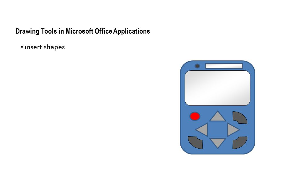 insert shapes Drawing Tools in Microsoft Office Applications