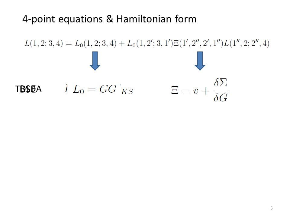 Hamiltonian form 4-point equations & Hamiltonian form Formal solution Both formulated the same way Comparative analysis Mixed methods Deeper understanding 6