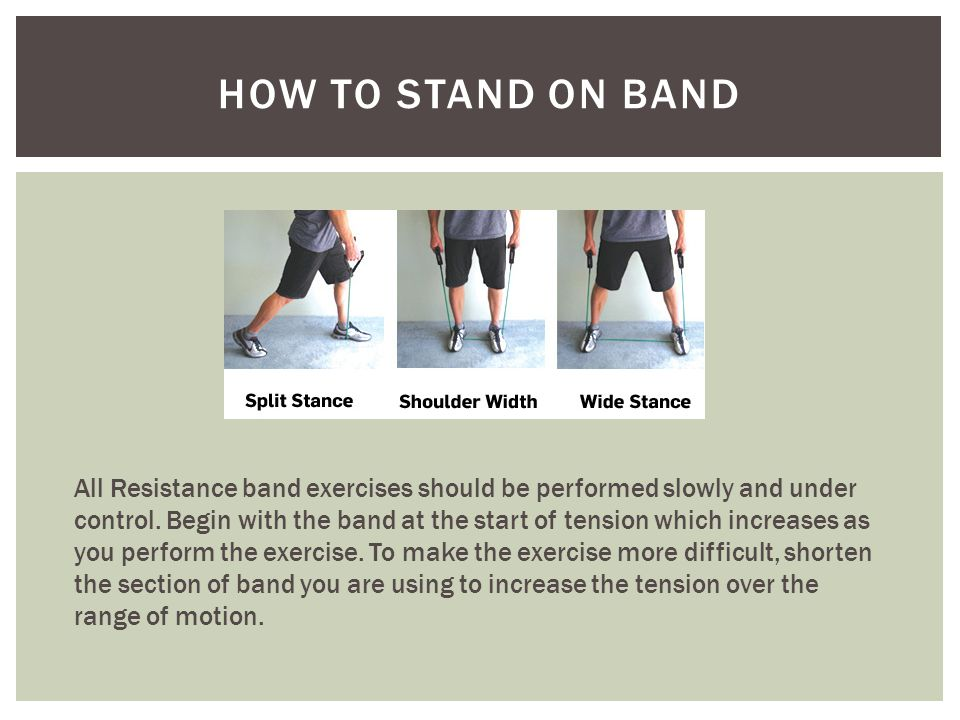 Muscles Developed: Gastrocnemius and Soleus Calf Exercises : Calf Raises Gym Equivalent: Calf Raises/Seat Calf Machine CALF RAISES Start: Stand on the band with the pad of your foot.