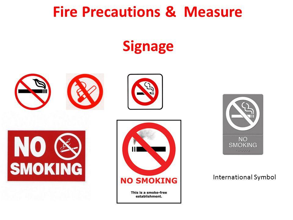 Fire Precautions & Measure Signage International Symbol