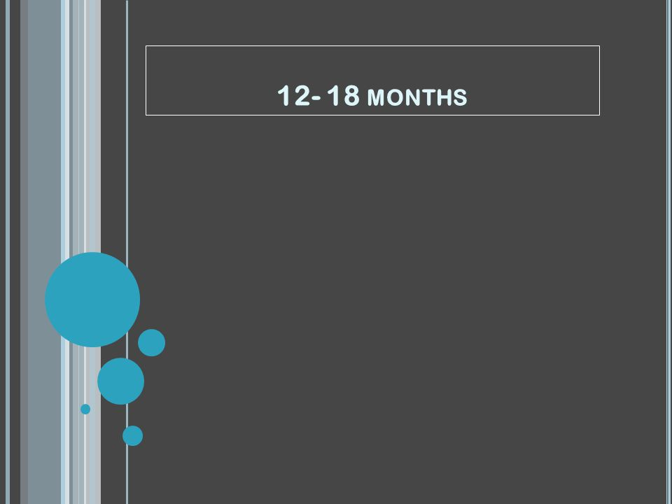 12- 18 MONTHS
