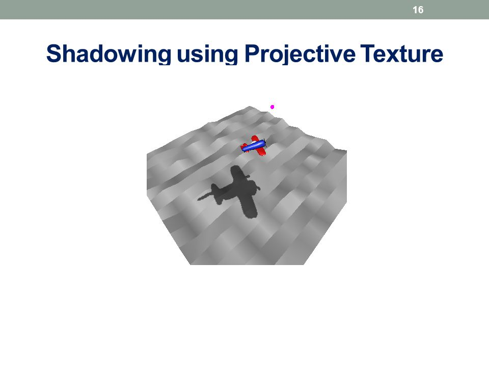 Shadowing using Projective Texture 16