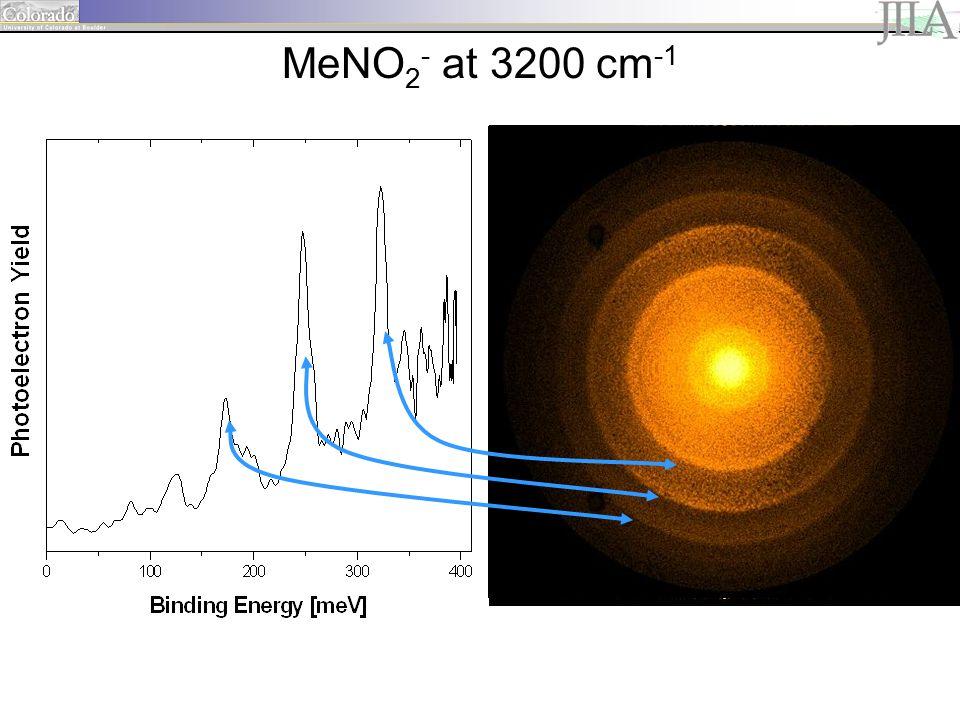 1 MeNO 2 - at 3200 cm -1
