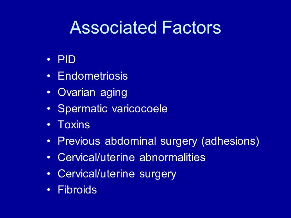 Ovarian Function Three main types of dysfunction –Hypogonadotrophic, hypoestrogenic (central) –Normogonadotrophic, normoestrogenic (e.g.