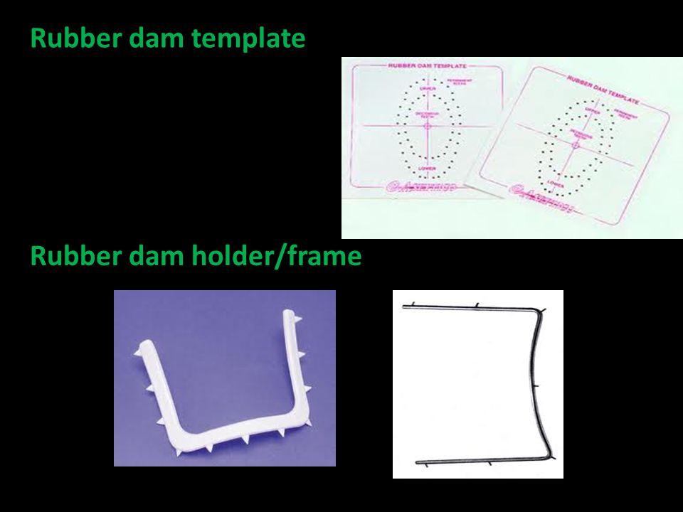 Rubber dam template Rubber dam holder/frame
