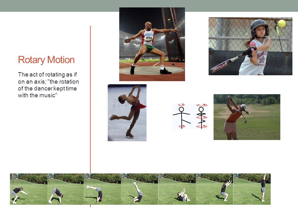 Rotary Motion The act of rotating as if on an axis;