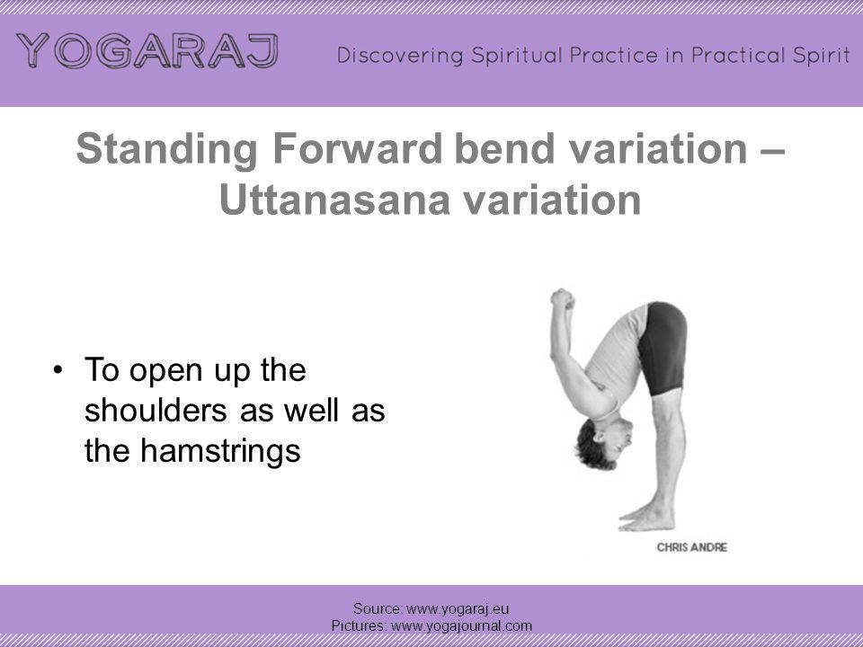 Twisting Garland Pose (prep for bound Garland pose) – (prep pose for) Bada Malasana Source: www.yogaraj.eu Pictures: www.yogajournal.com Bada Malasana – more advanced twist variation
