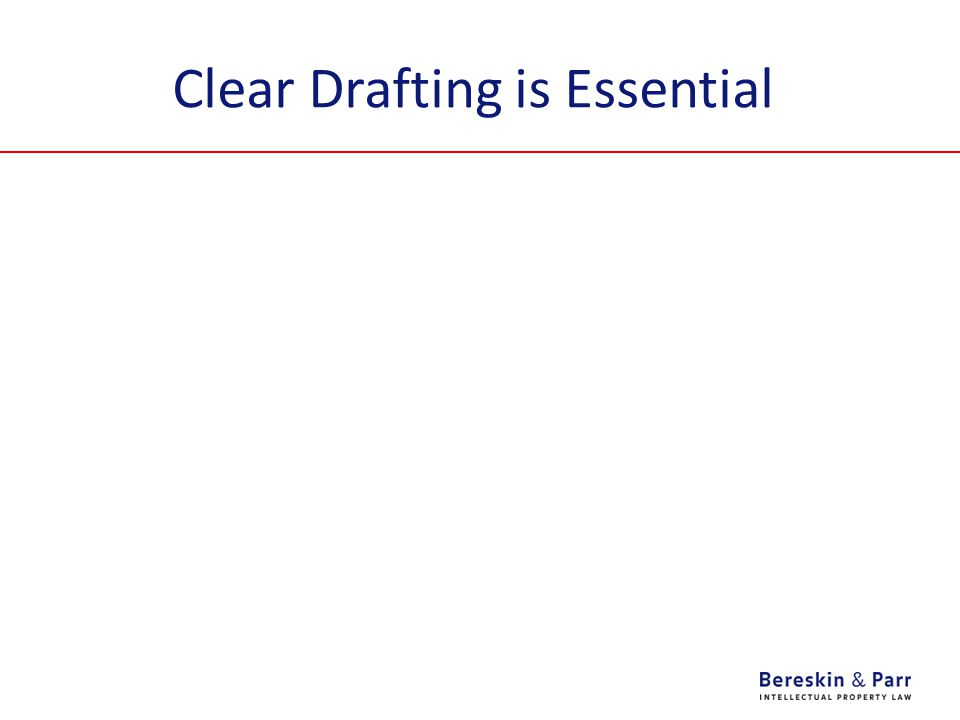 Clear Drafting is Essential