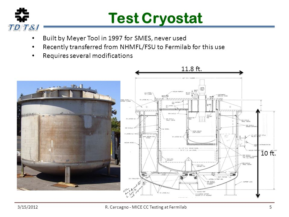 Test Cryostat 3/15/2012R.