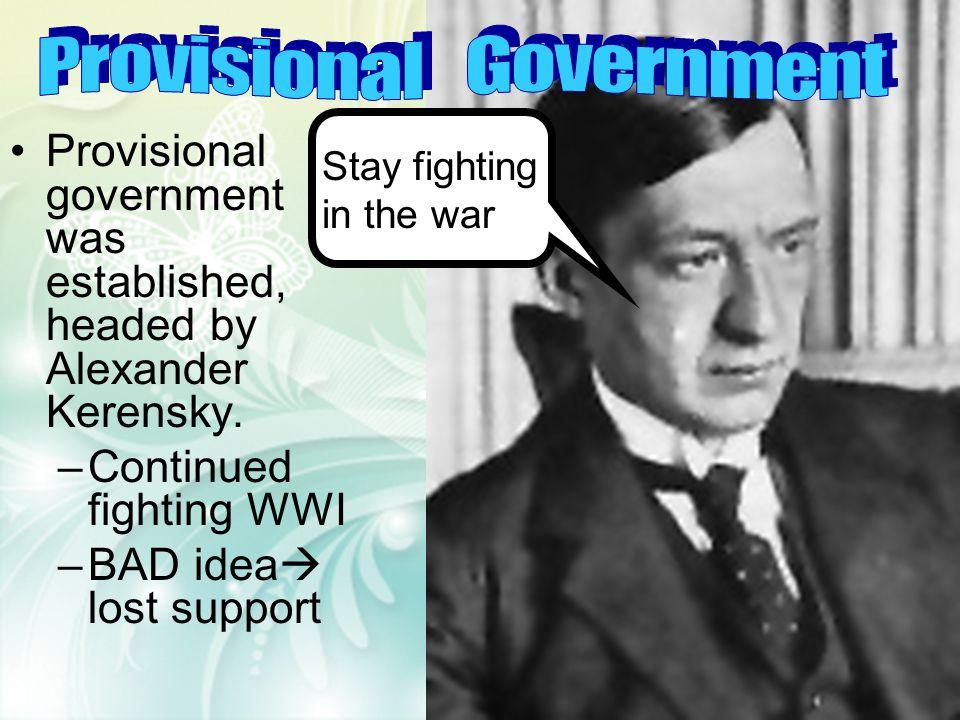 Involvement in WWI Corruption of Rasputin Lack of political leadership Marxist Revolutionaries