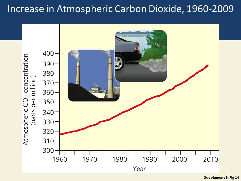 Increase in Atmospheric Carbon Dioxide, 1960-2009 Supplement 9, Fig 14