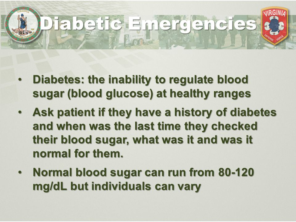 Diabetes: the inability to regulate blood sugar (blood glucose) at healthy rangesDiabetes: the inability to regulate blood sugar (blood glucose) at he