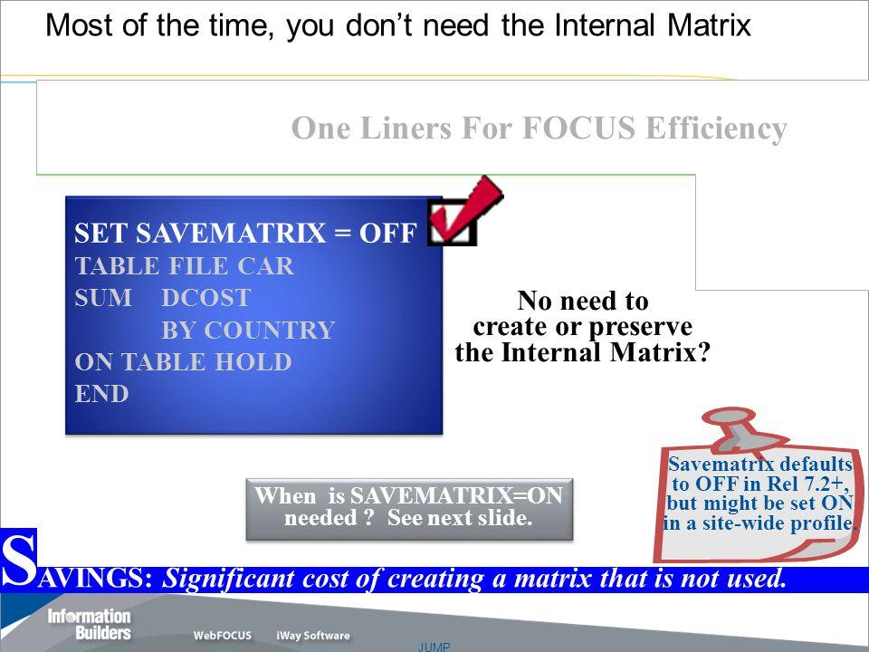 JUMP Copyright 2007, Information Builders. Slide 6