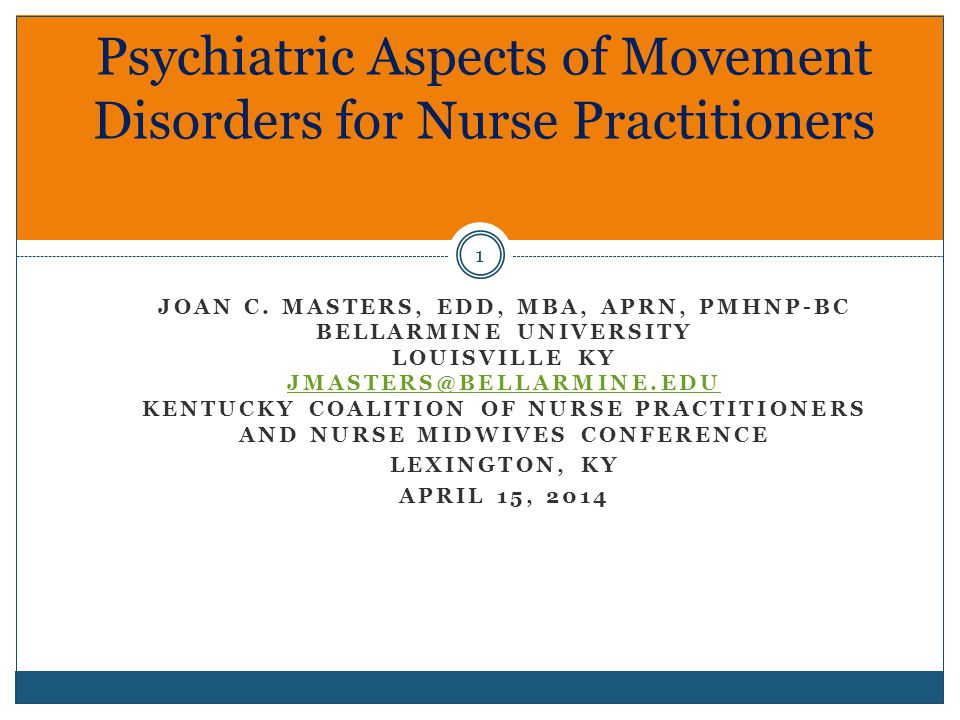 Abstract 2 Movement abnormalities are often comorbid with psychiatric disorders.
