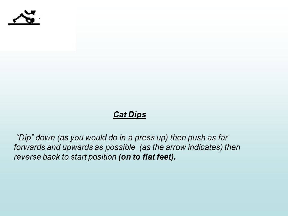 Press ups with alt leg raise Do normal press ups but on the downward part of the exercise when the body drops down to the floor raise one leg into the air as high as possible.