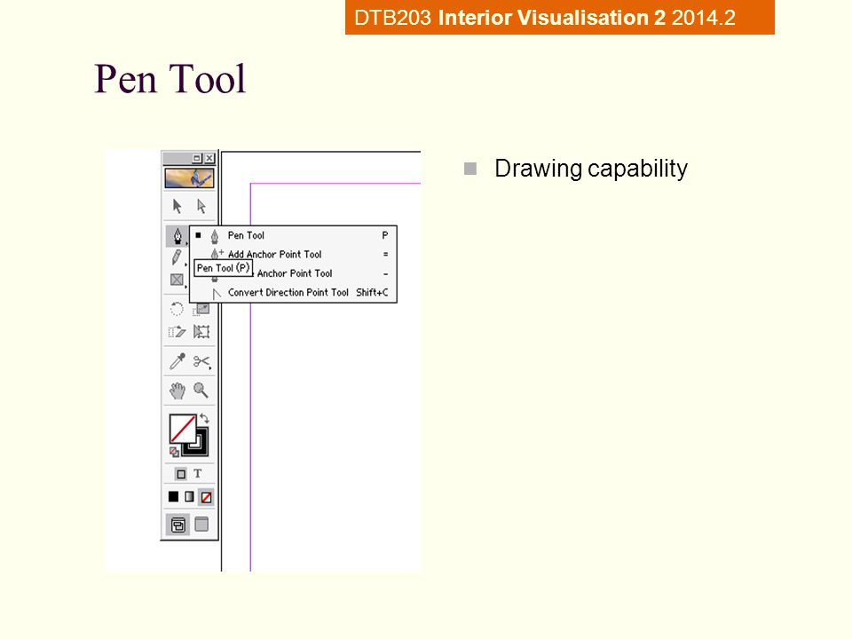 Pen Tool Drawing capability DTB203 Interior Visualisation 2 2014.2
