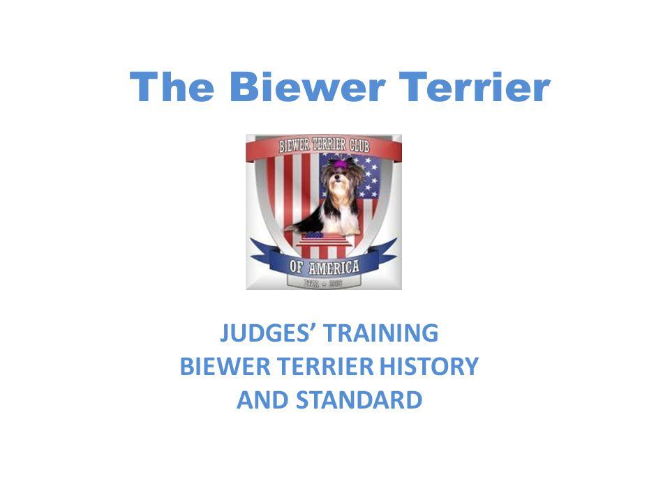 The Biewer Terrier JUDGES' TRAINING BIEWER TERRIER HISTORY AND STANDARD